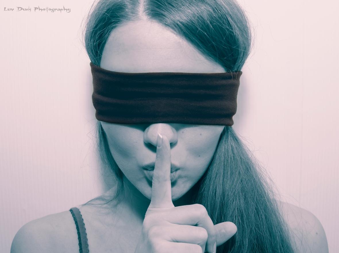 Blindfolding Olga 2