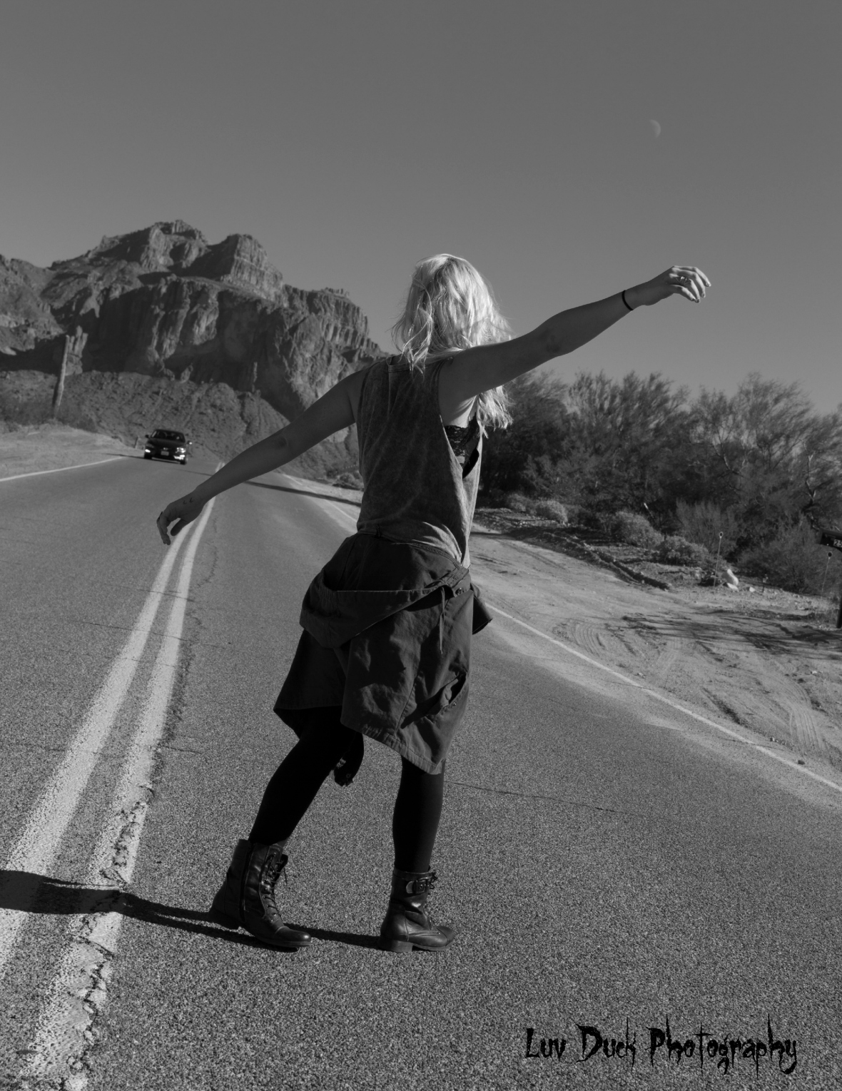 Heather Hitchhiking